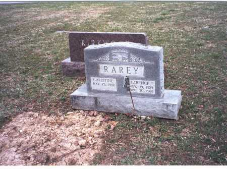 RAREY, CHRISTINE - Pickaway County, Ohio | CHRISTINE RAREY - Ohio Gravestone Photos