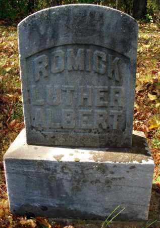 ROMICK, LUTHER ALBERT - Pickaway County, Ohio | LUTHER ALBERT ROMICK - Ohio Gravestone Photos