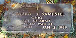 SAMPSILL, RICHARD J - Pickaway County, Ohio | RICHARD J SAMPSILL - Ohio Gravestone Photos