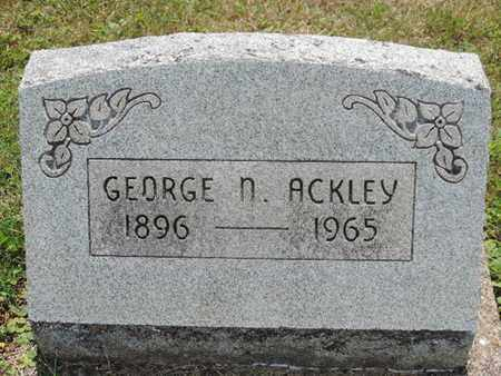 ACKLEY, GEORGE N. - Pike County, Ohio | GEORGE N. ACKLEY - Ohio Gravestone Photos