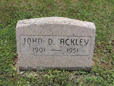 ACKLEY, JOHN D. - Pike County, Ohio | JOHN D. ACKLEY - Ohio Gravestone Photos