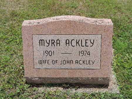 ACKLEY, MYRA - Pike County, Ohio | MYRA ACKLEY - Ohio Gravestone Photos
