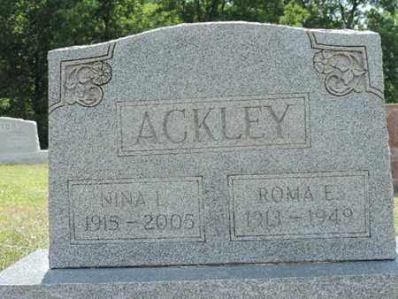 ACKLEY, ROMA E. - Pike County, Ohio | ROMA E. ACKLEY - Ohio Gravestone Photos