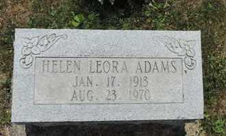 ADAMS, HELEN LEORA - Pike County, Ohio | HELEN LEORA ADAMS - Ohio Gravestone Photos