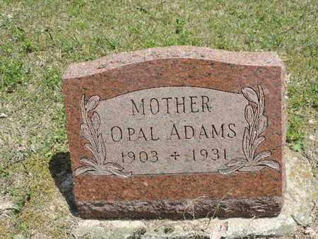 ADAMS, OPAL - Pike County, Ohio   OPAL ADAMS - Ohio Gravestone Photos
