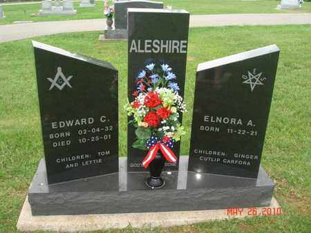 CLEMMONS ALESHIRE, ELNORA - Pike County, Ohio | ELNORA CLEMMONS ALESHIRE - Ohio Gravestone Photos