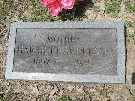 ANDERSON, HARRIETT - Pike County, Ohio | HARRIETT ANDERSON - Ohio Gravestone Photos