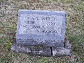 ARMINTROUT, GOLDIE I. - Pike County, Ohio | GOLDIE I. ARMINTROUT - Ohio Gravestone Photos