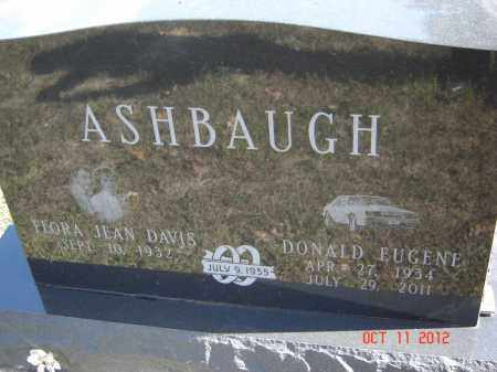 DAVIS ASHBAUGH, FLORA JEAN - Pike County, Ohio | FLORA JEAN DAVIS ASHBAUGH - Ohio Gravestone Photos
