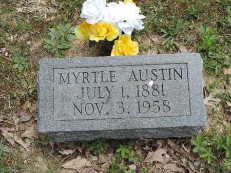 AUSTIN, MYRTLE - Pike County, Ohio | MYRTLE AUSTIN - Ohio Gravestone Photos