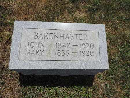 BAKENHASTER, MARY - Pike County, Ohio | MARY BAKENHASTER - Ohio Gravestone Photos