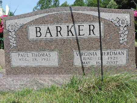 BARKER, PAUL THOMAS - Pike County, Ohio | PAUL THOMAS BARKER - Ohio Gravestone Photos