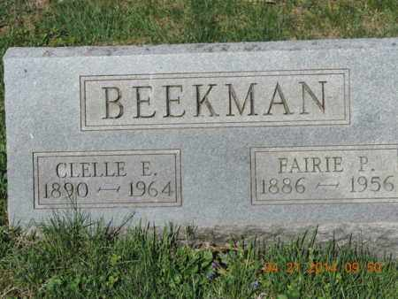 BEEKMAN, CLELLE E - Pike County, Ohio | CLELLE E BEEKMAN - Ohio Gravestone Photos