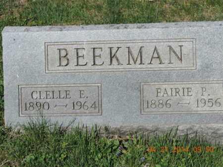 BEEKMAN, CLELLE E - Pike County, Ohio | CLELLE E BEEKMAN - Ohio Gravestone Photos