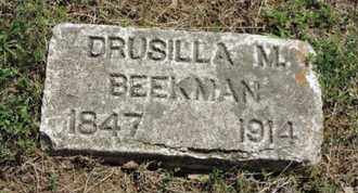 BEEKMAN, DRUSILLA M - Pike County, Ohio | DRUSILLA M BEEKMAN - Ohio Gravestone Photos