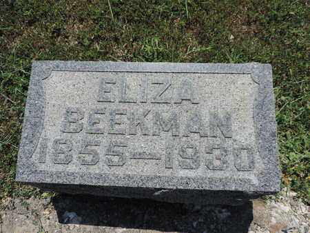BEEKMAN, ELIZA - Pike County, Ohio | ELIZA BEEKMAN - Ohio Gravestone Photos