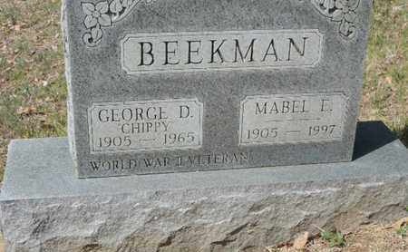 BEEKMAN, GEORGE D. - Pike County, Ohio | GEORGE D. BEEKMAN - Ohio Gravestone Photos