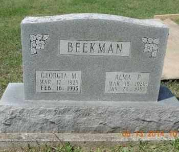 BEEKMAN, GEORGIA M. - Pike County, Ohio | GEORGIA M. BEEKMAN - Ohio Gravestone Photos