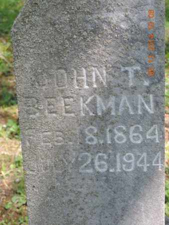 BEEKMAN, JOHN T. - Pike County, Ohio | JOHN T. BEEKMAN - Ohio Gravestone Photos