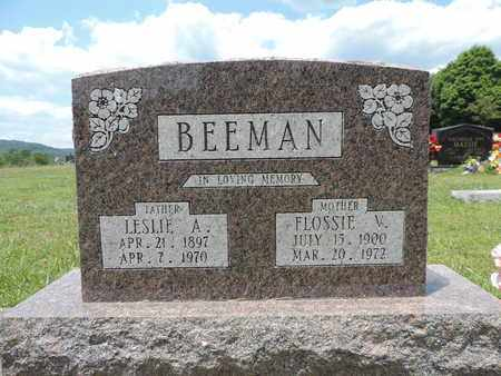 BEEMAN, LESLIE A. - Pike County, Ohio | LESLIE A. BEEMAN - Ohio Gravestone Photos