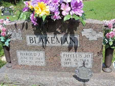 BLAKEMAN, PHYLLIS JO - Pike County, Ohio | PHYLLIS JO BLAKEMAN - Ohio Gravestone Photos