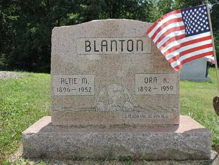 BLANTON, ORA K. - Pike County, Ohio | ORA K. BLANTON - Ohio Gravestone Photos