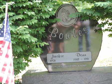 BOWLES, DONN - Pike County, Ohio | DONN BOWLES - Ohio Gravestone Photos
