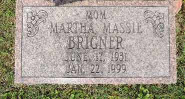 BRIGNER, MARTHA - Pike County, Ohio | MARTHA BRIGNER - Ohio Gravestone Photos