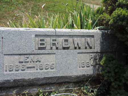 BROWN, LENA - Pike County, Ohio | LENA BROWN - Ohio Gravestone Photos