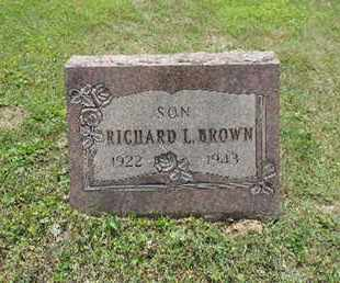 BROWN, RICHARD L. - Pike County, Ohio | RICHARD L. BROWN - Ohio Gravestone Photos