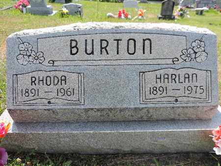 BURTON, RHODA - Pike County, Ohio | RHODA BURTON - Ohio Gravestone Photos