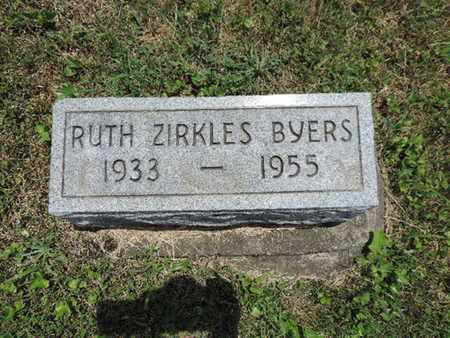 BYERS, RUTH - Pike County, Ohio | RUTH BYERS - Ohio Gravestone Photos