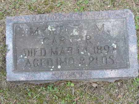 CARTER, MYRTLE M. - Pike County, Ohio | MYRTLE M. CARTER - Ohio Gravestone Photos