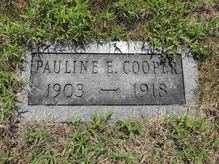COOPER, PAULINE E. - Pike County, Ohio | PAULINE E. COOPER - Ohio Gravestone Photos