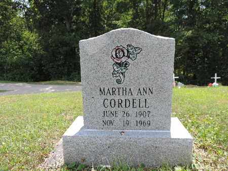 CORDELL, MARTHA ANN - Pike County, Ohio | MARTHA ANN CORDELL - Ohio Gravestone Photos