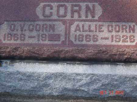 CORN, ALLIE - Pike County, Ohio | ALLIE CORN - Ohio Gravestone Photos