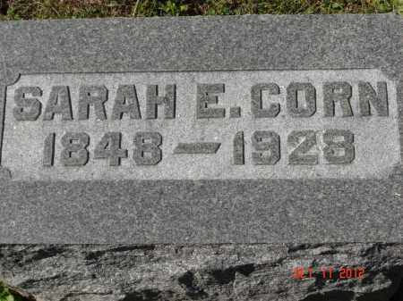 CORN, SARAH E - Pike County, Ohio | SARAH E CORN - Ohio Gravestone Photos