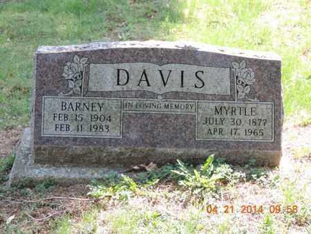 DAVIS, BARNEY - Pike County, Ohio | BARNEY DAVIS - Ohio Gravestone Photos