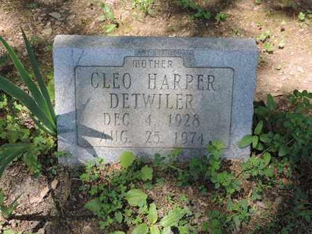 HARPER DETWILER, CLEO - Pike County, Ohio | CLEO HARPER DETWILER - Ohio Gravestone Photos