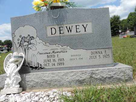 DEWEY, DONNA F. - Pike County, Ohio | DONNA F. DEWEY - Ohio Gravestone Photos
