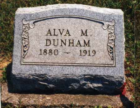 DUNHAM, ALVA M. - Pike County, Ohio | ALVA M. DUNHAM - Ohio Gravestone Photos