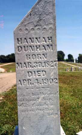DUNHAM, HANNAH - Pike County, Ohio | HANNAH DUNHAM - Ohio Gravestone Photos