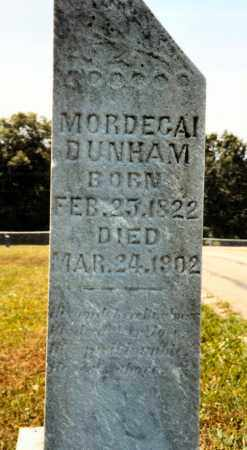DUNHAM, MORDECAI - Pike County, Ohio | MORDECAI DUNHAM - Ohio Gravestone Photos