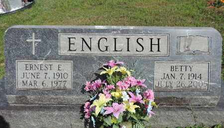 ENGLISH, ERNEST E. - Pike County, Ohio | ERNEST E. ENGLISH - Ohio Gravestone Photos