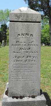 FOULK, ANNA - Pike County, Ohio | ANNA FOULK - Ohio Gravestone Photos