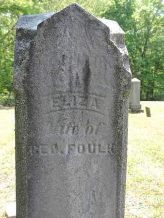 FOULK, ELIZA - Pike County, Ohio | ELIZA FOULK - Ohio Gravestone Photos