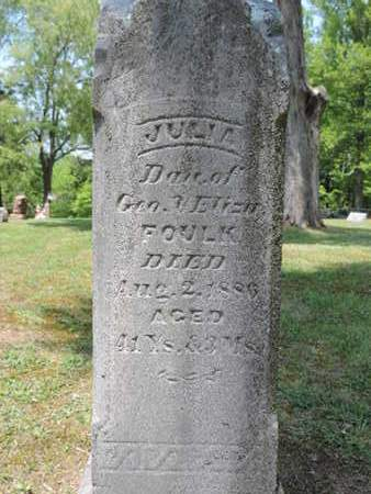 FOULK, JULIA - Pike County, Ohio | JULIA FOULK - Ohio Gravestone Photos