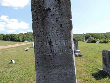 FOWLER, MARRETT - Pike County, Ohio | MARRETT FOWLER - Ohio Gravestone Photos