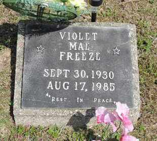 FREEZE, VIOLET MAE - Pike County, Ohio   VIOLET MAE FREEZE - Ohio Gravestone Photos