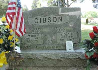 GIBSON, HOWARD F. - Pike County, Ohio | HOWARD F. GIBSON - Ohio Gravestone Photos